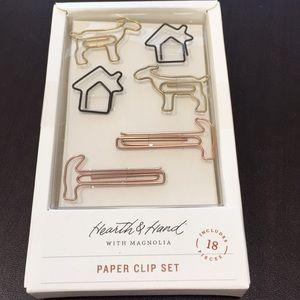 Hearth and Hand Magnolia paper clip set. 18 pc